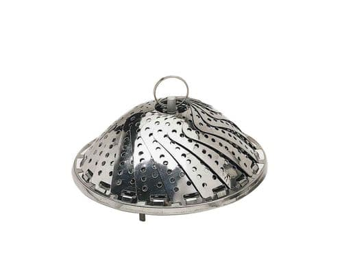 KitchenCraft Stainless Steel 23cm Collapsible Steaming Basket